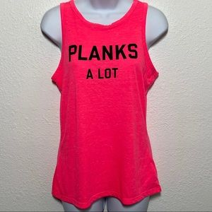 Victoria's Secret Planks A Lot Work Out Tank Sz S